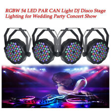 4X 54W 54 LED RGBW Rainbow Effect PAR CAN Stage Light DMX512 DJ Disco Lighting