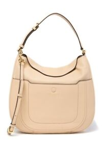 NWT!! Marc Jacobs Empire City Leather Hobo Bag $475 BUFF in Original Packaging
