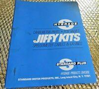 1977 Hygrade Standard Jiffy Kits Carburetor Speedometer Part Catalog Interchange