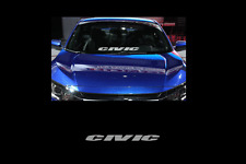 "Civic Windshield Banner Sticker Decal 23"" Honda jdm civic si turbo vtec"