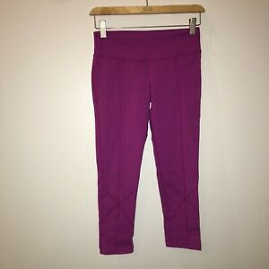 xs 26x20 prana capri yoga leggings pants stretchy thick comfortable pink 21-1904