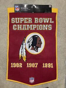 Washington Redskins Super Bowl Champions Banner NFL dynasty Collection! Retired!