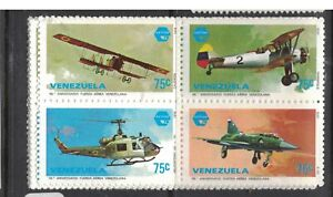 Venezuela Airplane Helicopter SC 1221a Price Is For One Block MNH (4dwh)