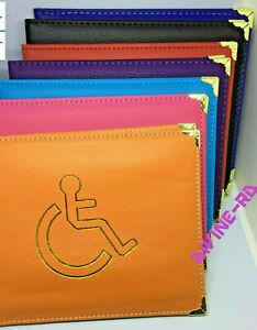 new metal coner Disabled Blue Badge Holder  Wallet PULeather Safe ParkingPermit