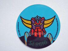 ADESIVO Sticker card vintage UFO ROBOT GOLDRAKE 1978 nome SERGIO