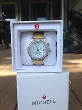 Women's Michele CSX diamond chronograph watch