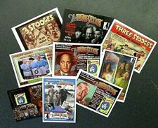 THREE STOOGES CARDS RRPARKS PROMO LOT OF 9 DIFFERENT CARDS-MOE LARRY CURLY