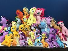 """Used Lot 33 Babw & Other Brands My Little Pony Plush Dolls 6 to 15"""" tall"""