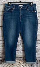 Levi's Women's Cropped Boyfriend Denim Stretch Jeans Size 32  *B11
