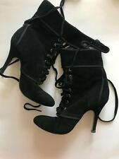 Ladies buckle finish black suede leather ankle boots by Jannifer Modo 5