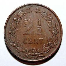 KM # 108 - 2 1/2 Cents-WILLEM III-Pays-Bas 1881 (VF)