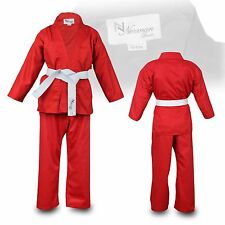 Children's Red Karate Suit With White Belt Free Kids Karate suit 100 to 150cm