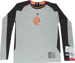 Cleveland Browns Covert Long Sleeve Youth Boys Dri Tek Shirt $35 New tags