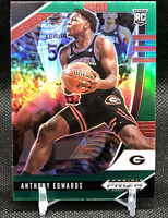 ANTHONY EDWARDS GREEN PRIZM ROOKIE CARD JERSEY #5 GEORGIA RC T WOLVES 2020 Prizm