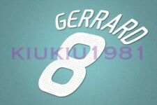 Liverpool Gerrard #8 2008-2010 UEFA Champions League Homekit Nameset Printing