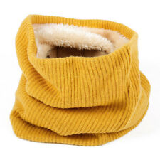 Circle Shawl Wrap Knitted Scarf Warm Soft Solid Winter Plush Lining Collar