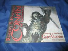 CONAN OF CIMMERIA Sketchbook (Drawings/Sketches) by Gary Gianni ROBERT E HOWARD