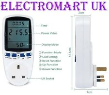 PLUG IN ENERGY SAVING ELECTRICITY METER MONITOR LCD DISPLAY