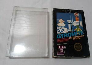 Gyromite First Print Hang Tab Gloss Sticker Seal NES Nintendo Black BOX ONLY!!