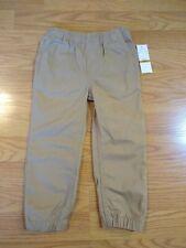 Nautica Boys Pull On Pants 3T Toddlers Khakis Tan Light Brown NEW