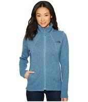 Womens The North Face Jacket Crescent Fleece Full Zip Coat Blue Heather S