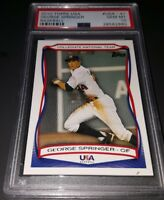 2010 Topps USA Baseball #USA-41- George Springer Rookie Card! PSA GEM MINT 10!