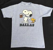 VTG 1965 Snoopy Tee Shirt Peanuts Charles Schulz Comics Dallas Woodstock MED