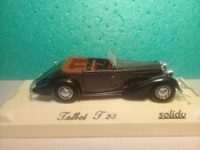 Véhicule Solido 1/43 Age d'Or - Talbot T23 - 1937 - Ref.: 4003