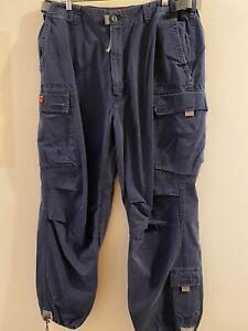 Abercrombie Fitch T-2083 Cargo Pants Men's Size XL Waist 34-36 Inseam 31 Blue