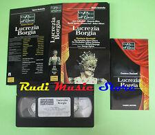 VHS Gaetano Donizetti LUCREZIA BORGIA Un palco all'opera FABBRI(CL2)no cd dvd lp