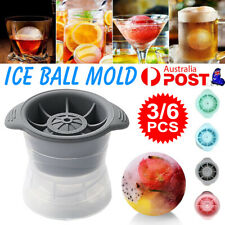 3/6PCS ICE Ball Mold Whiskey Cocktail Sphere Cube Maker Jelly Silicone Mould Set