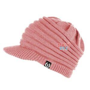 NEW Fashion Unisex Winter Visor Beanie Knit Hat Cap Crochet Men Women Ski Warm