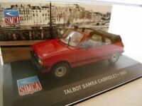 SIM13F Voiture 1/43 IXO altaya SIMCA Talbot SAMBA cabriolet 83