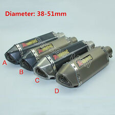 Universal Motorcycle Exhaust Tip Muffler Pipe With Removable DB Killer Silencer