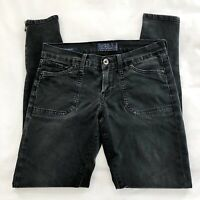 Women's Lucky Brand Charlie Skinny Black Wash Jeans 4 / 27  Ankle Zip