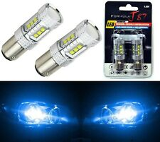 LED Light 80W 2357 Blue 10000K Two Bulbs Front Turn Signal Replace Show Use Lamp