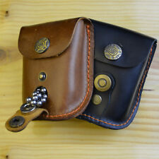 Leather Case Waist Bag Pouch for Catapult Slingshot Steel Balls Ammo Games New!
