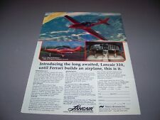 Vintage... Lancair 320... Original Color sales ad... selten! (197k)