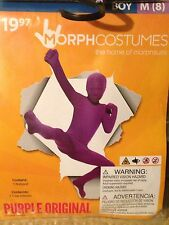 NWT Morphsuit/Costume/Fancy Dress Outfit/Bodysuit Purple Original Size M Age 8