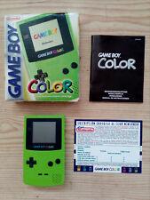 Consola Game Boy Color Verde Con Caja