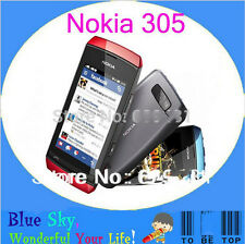 "Original Nokia asha 305 Dual SIM 3"" touch screen 2MP Bluetooth FM MP4 Player"