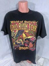 World Of Outlaws Gold Rush Tour T-Shirt Sz XL Black 2006 Sprint Series
