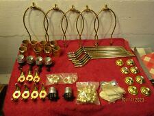 Lot of Lamp Parts Sockets Wire Loops Diy Lamp Repair Ceramic Work