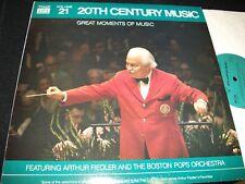 ARTHUR FIEDLER<>20th CENTURY MUSIC° TIME LIFE N0.21<>LP Vinyl~USA Pressing<>