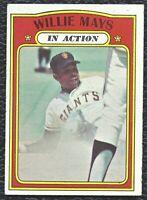 1972 72 Topps Willie Mays In Action Vintage Baseball Card #50 SF Giants HOF - EX