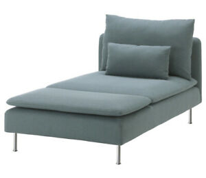 Brand New Ikea Cover for Soderhamn Chaise Longue in Finnsta Turquoise 103.283.37