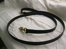 "1"" X 48"" SUPER HEAVY BIOTHANE [ A BRIDLE LEATHER SUBSTITUTE ] DOG LEAD"