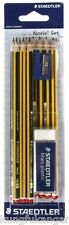10 x STAEDTLER NORIS HB PENCIL SET + SHARPENER + ERASER BACK TO SCHOOL ART