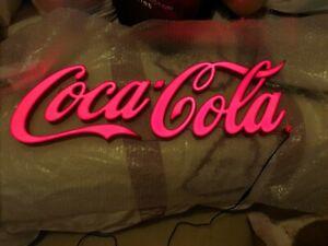 Coca Cola Bar Pub Beer Mancave Sign LED Light up Plaque New Large Coke