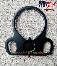 USA Made Steel Ambidextrous Dual Loop Single Point Sling Adapter Mount Plate 223